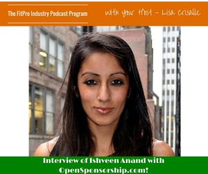 Ishveen Anand with OpenSponsorship.com